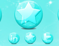 Free Glossy Ice Social Media Icons for the Winter Seaso