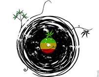 Reggae Music Peace - Vinyl Records Weed Pot Reggae!