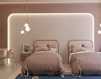 Girls Bed Room Interior KWT