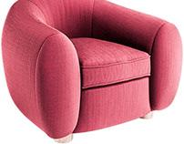 Jean Royere Sofa,Armchair