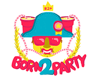 banda Born2Party - Logo