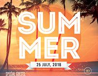 Summer Party – Freebie PSD Flyer Template