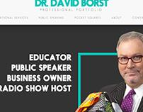Dr. Borst Portfolio & Shopping Site Screen Design