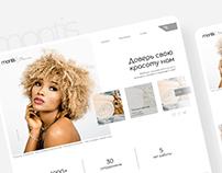 Montis - beauty salon. Design website. Салон красоты