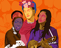 Digital Illustration for International Women's Day 2016