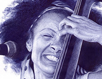 Esperanza Spalding on Bic ball pen