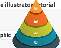 How to create cone infographic in Adobe Illustrator