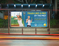 Tennis Training Billboard Template