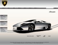 "Restyling ""Lamborghini"" Site"