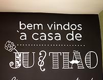 Juh & Tião • Parede + Posca