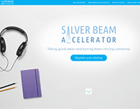 "Landing page ""Silver Beam"" ver.2"