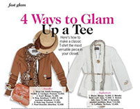 Four ways to glam up your tee!