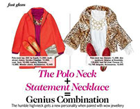 The Polo Neck + Statement Necklace = Genius Combination