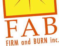 FAB Inc. Firm and Burn Brand Identity
