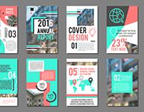 Annual report flyer. Business brochure design template.