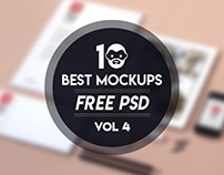 10 Best Mockup Free PSD Vol 4