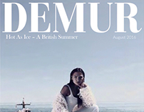 My picture on the cover of Demur Magazine!
