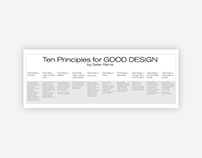 Ten principles for Good Design. By Dieter Rams