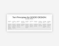 Ten principles for Good Design. By Dieter Rams