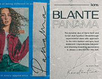 BLANTE PANAMA - Duo Sans Serif and Handwriting Fonts