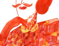 Femme à moustaches
