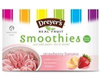 Dreyer's fruit smoothies - design concepts