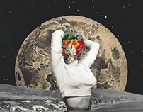 Marilyn on the moon [ cut and paste series ]