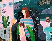彩繪|高雄新崛江牆壁彩繪