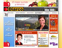 Diarco. Diseño web site