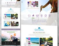 Crystal Deodorant Website Design