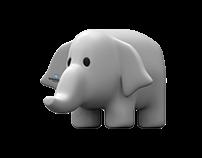 Stuffed elephant 3D