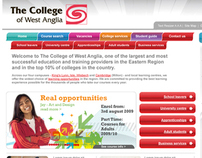 WEST ANGLIA COLLEGE WEBSITE CONCEPT