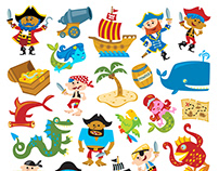 Pirate Tub Stickers - Toys R Us