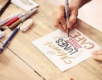 Acción de lettering / Nescafé Dolce Gusto