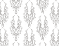 Feather Drop Fabric Pattern