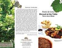 """Desdobrável Ponte de Lima """"Terra rica à mesa"""""""