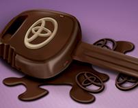 Chocolate Toyota key
