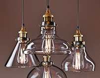 American vintage pendant lights. Free 3d model