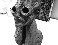 Annunaki sculputure