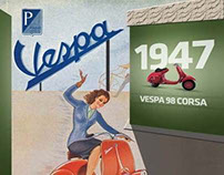 Vespa exhibition design