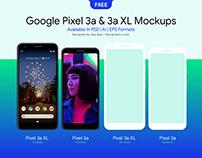 Free Google Pixel 3a & Pixel 3a XL Mockup PSD, Ai & EPS