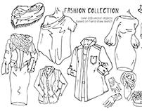 Fashion collection. Hand draw vector
