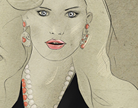 Fashion Illustration - Bianca Balti