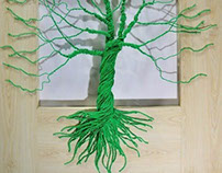 Tree made from electrical wires:polycab wire