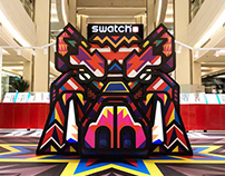 Wild Boar Sculpture for Swatch