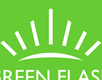 Green Flash Glass Logo and Logotype