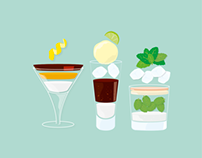 Cocktail info graphics
