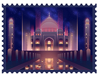 Stamp--The night of ancient civilizations