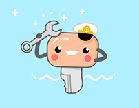 Key Character for Boating Service Company