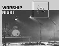 ONE's worship night poster
